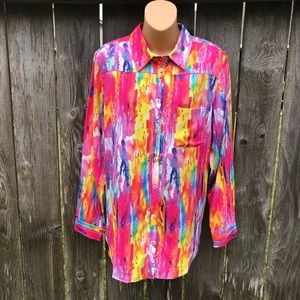 Soft Surroundings Multicolor Embroidered Top NWOT